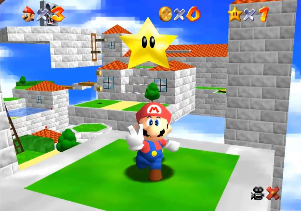 Capture d'écran de Super Mario 64