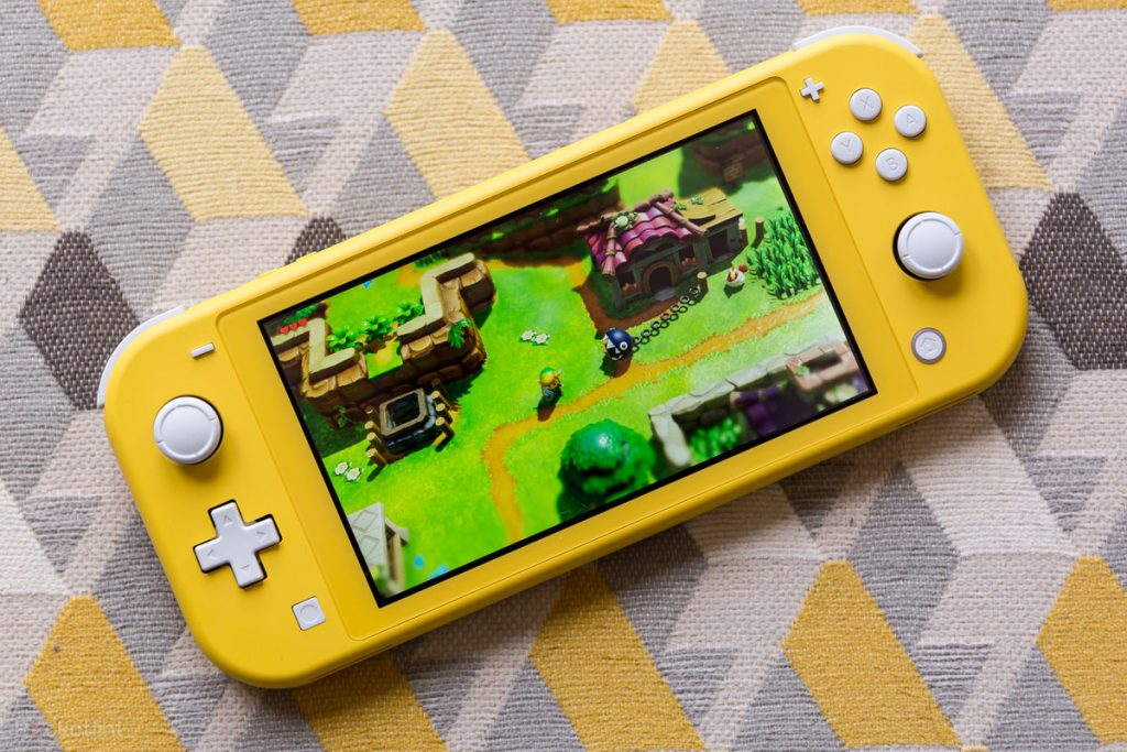 Nintendo switch lite amarelo