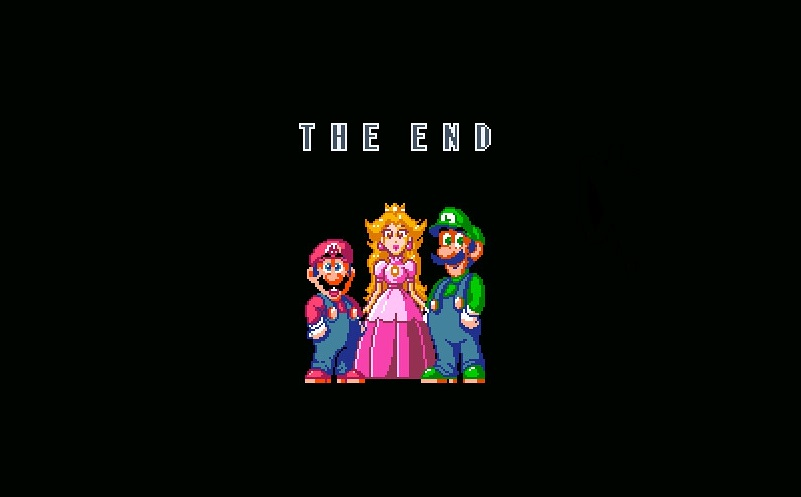 Super mario world tela final
