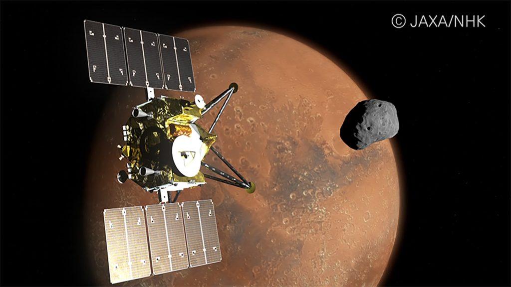 Ilustração digital da missão japonesa que será capaz de capturar imagens de Marte em 8K
