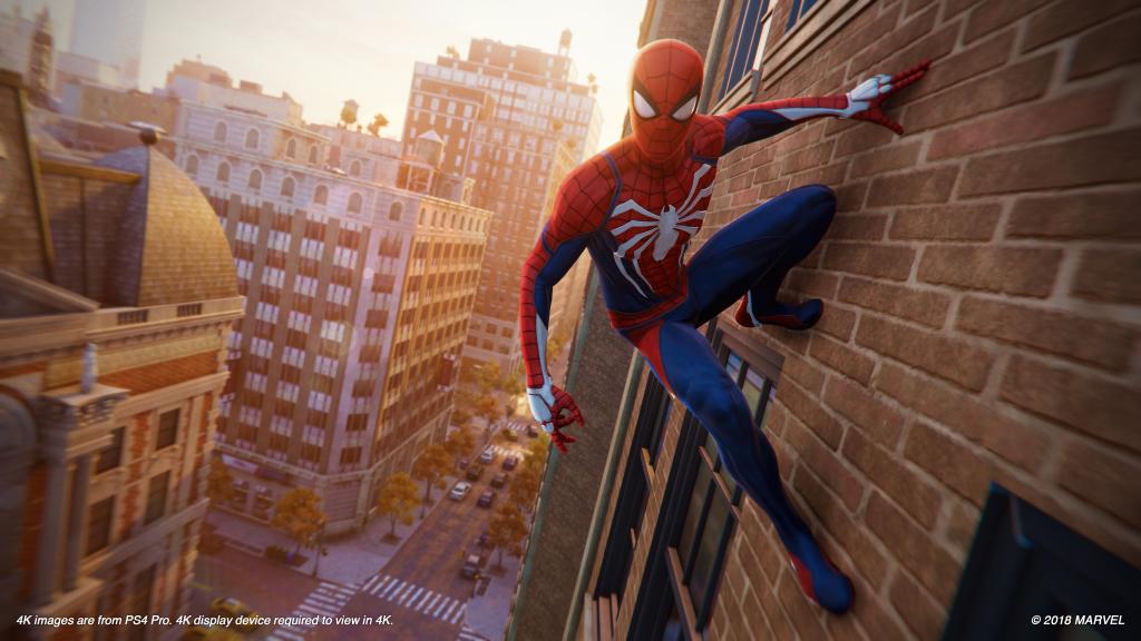 Captura de marvel's spider man em 4k.