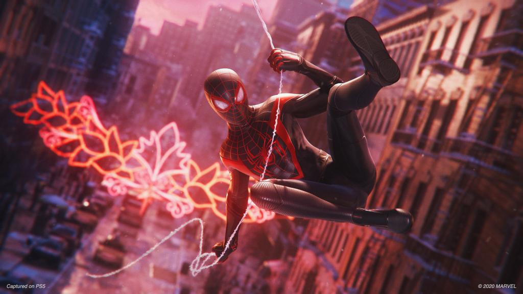 Captura de marvel's spider-man: miles morales no ps5.