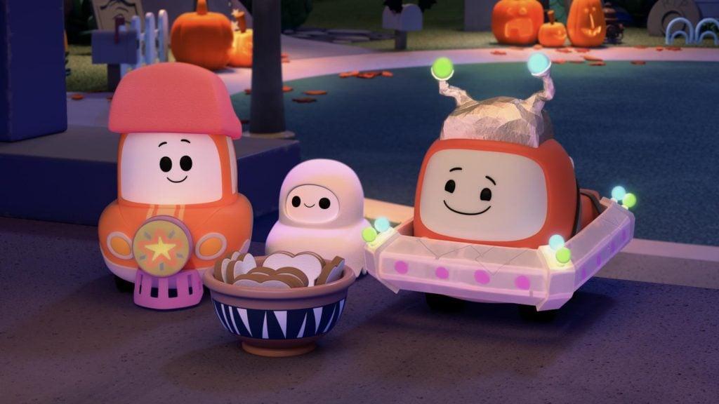 Cena da animação cory carson e o halloween