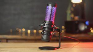 HyperX lança o novo microfone QuadCast S com iluminação RGB