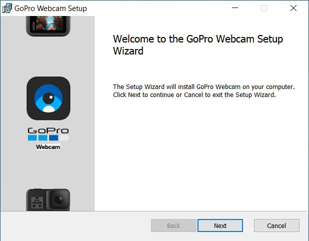 Tela do programa de webcam para Windows