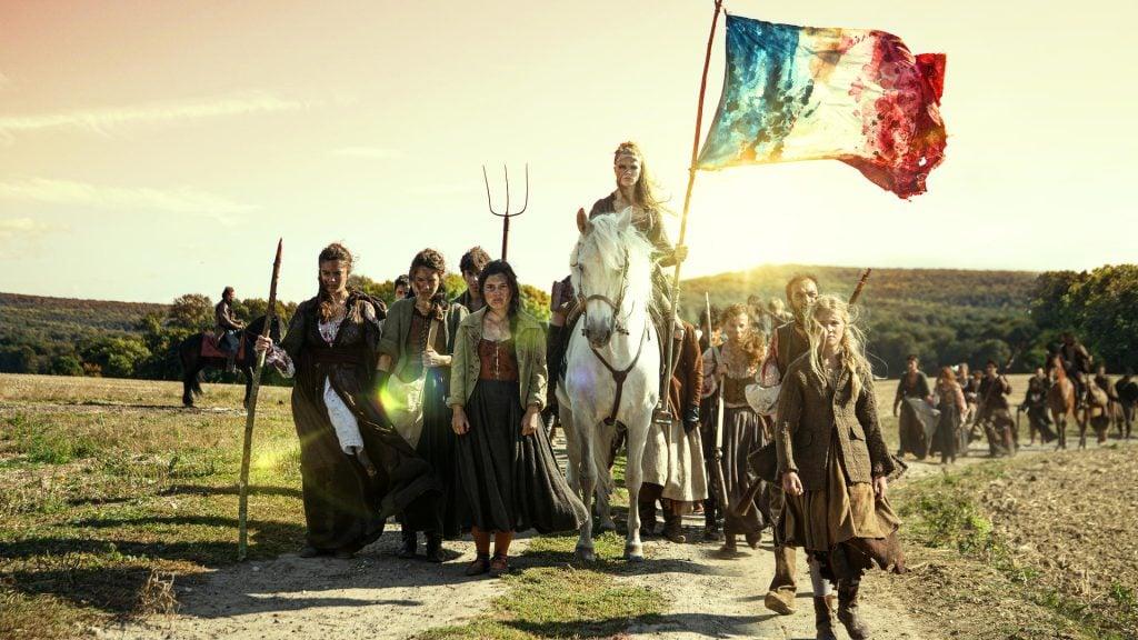 Cena de la révolution, série que faz uma releitura fictícia da revolução francesa.