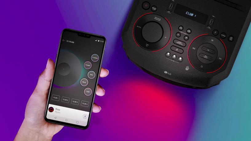 Funcionalidade do smartphone com a lg xboom rn9