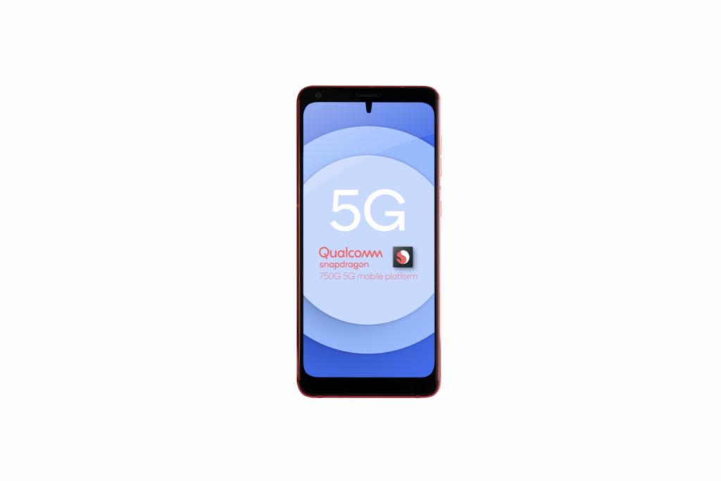 Imagem de smartphone com o novo snapdragon 750g da qualcomm