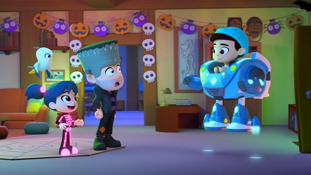 Cena da animação starbeam salva o halloween