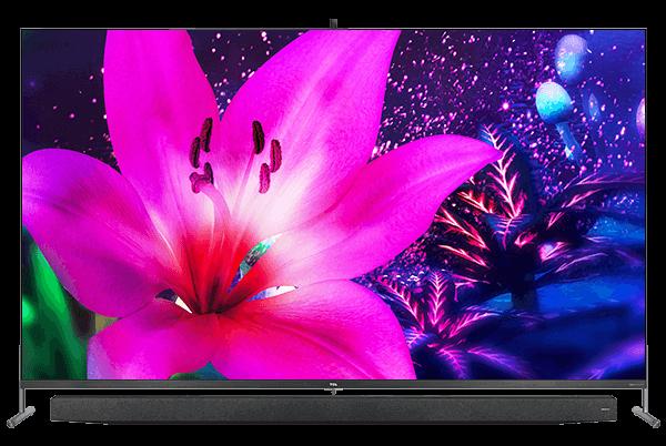 TV QLED TCL X915: soundbar integrada e câmera pop up superior para videochamadas