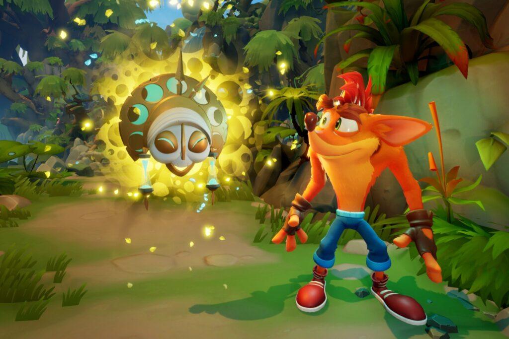 Cena de crash 4, que está entre os lançamentos de games da semana