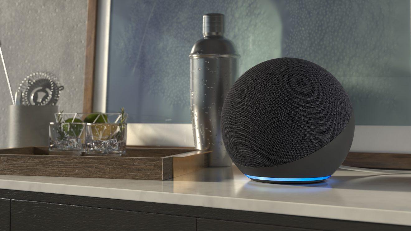 Imagem da nova Echo Dot lançada no evento da Amazon