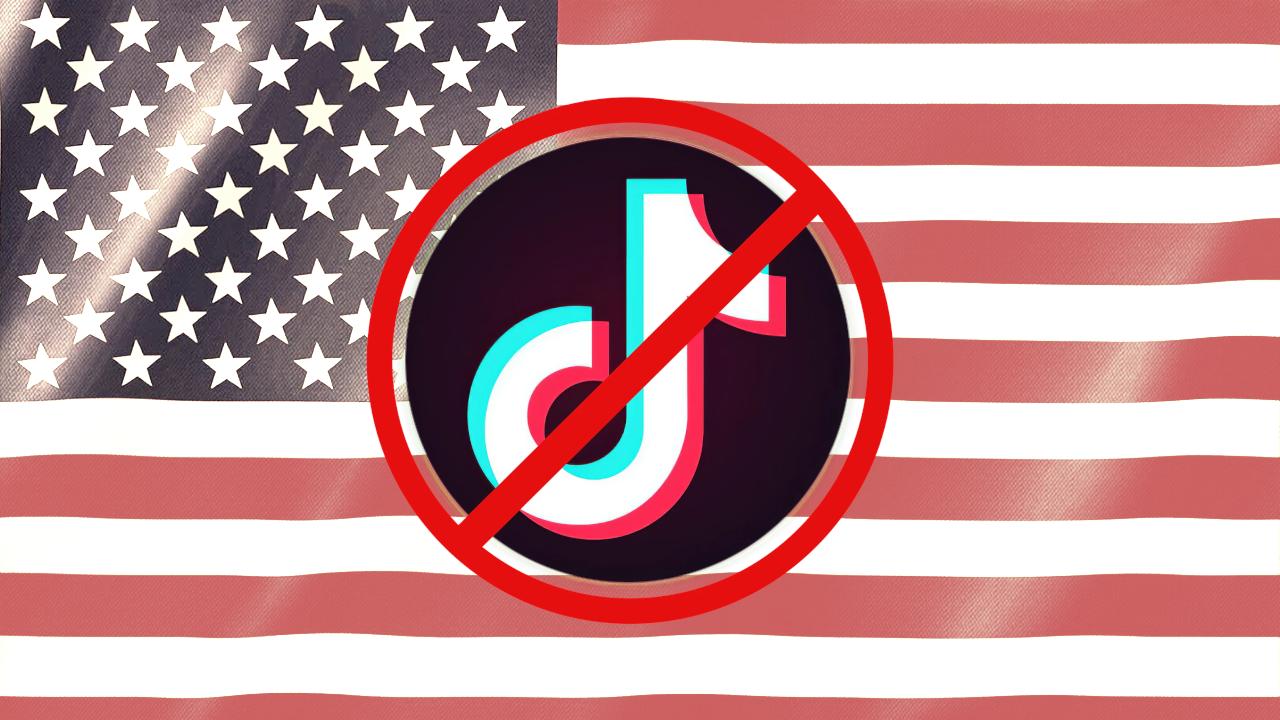 Ilustração que mostra que TikTok e WeChat estão banidos dos EUA