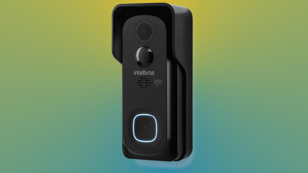 O videoporteiro Allo w5 da Intelbras se destaca, pois, é alimentado por duas baterias recarregáveis.