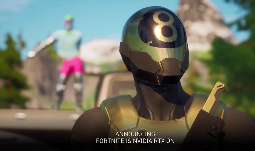 Demonstração de Ray Tracing no famoso Fortnite.