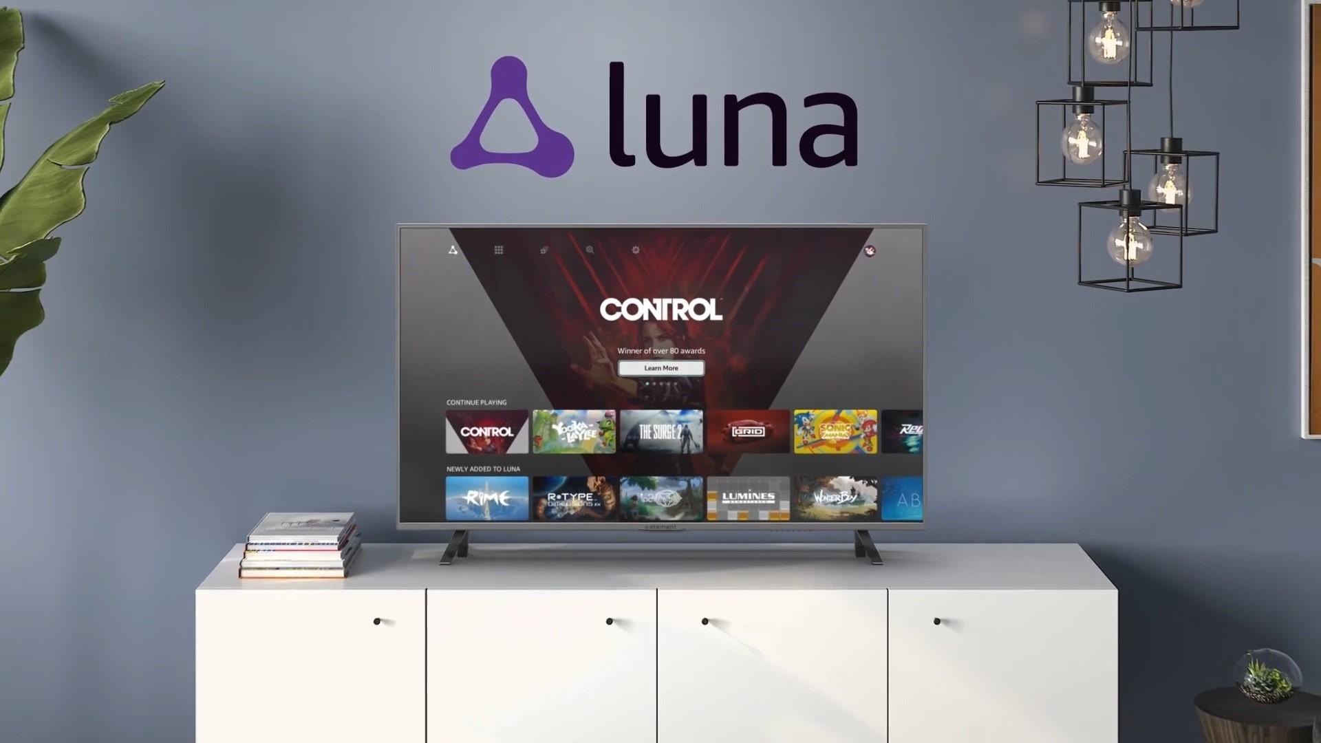 Amazon luna é o novo serviço de streaming para games da companhia.