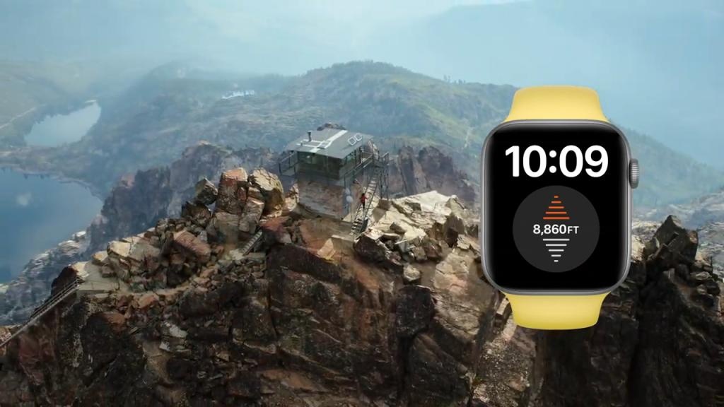 Imagem do altímetro do Watch Series 6 da Apple