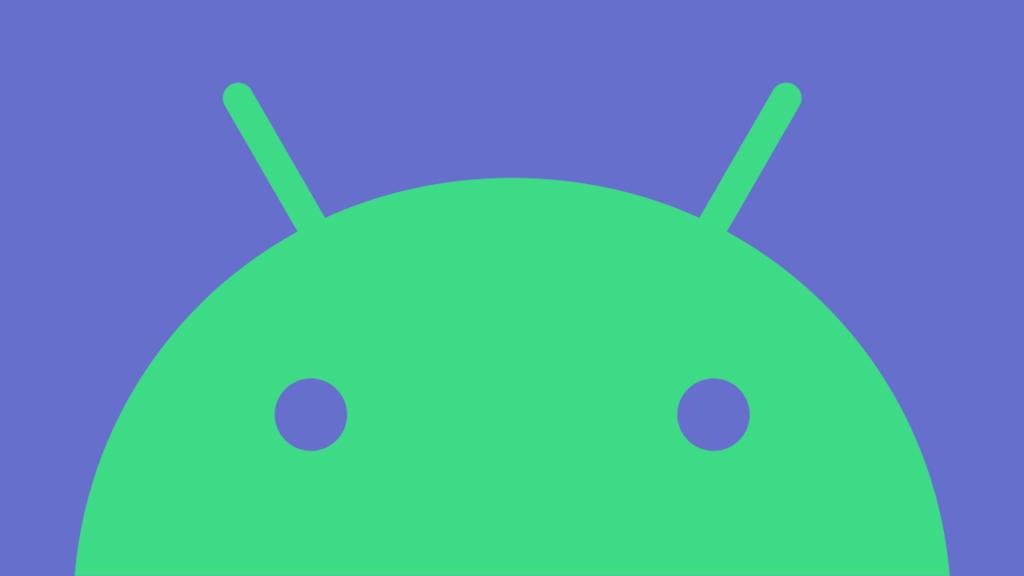 Logo do Android em roxo e verde