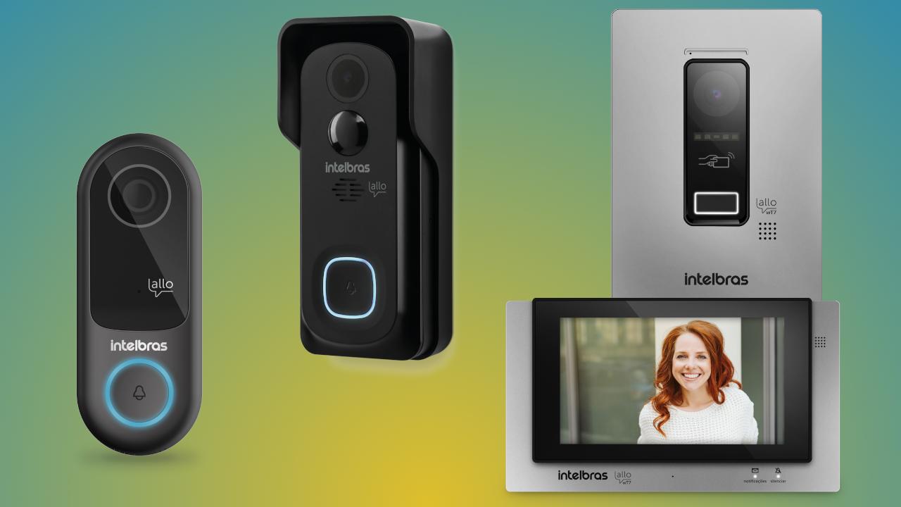 A Intelbras lançou a nova linha Allo de videoporteiros, que permite abertura de portas à distância