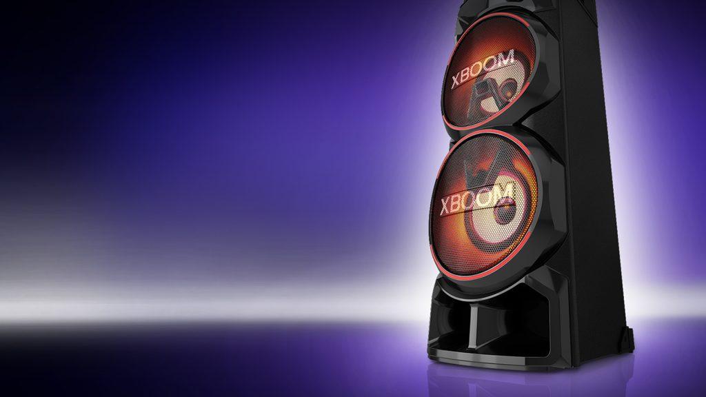 Xboom rn9 é a nova caixa de som da lg, que traz recursos de dj e karaokê. A nova lg xboom rn9 possui alta qualidade de som e iluminação multicolorida para animar sua festa