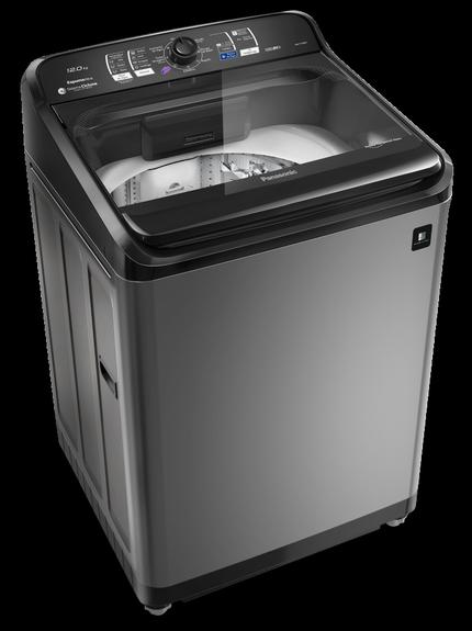 A nova máquina de lavar da panasonic é compacta o suficiente para caber em espaços menores.