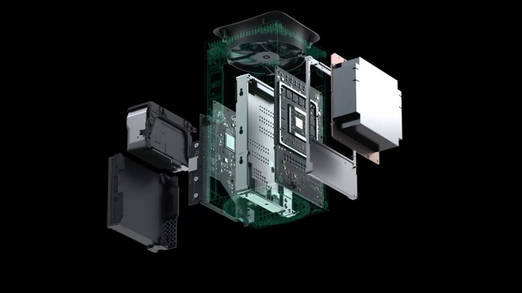 Construção interna do xbox series x