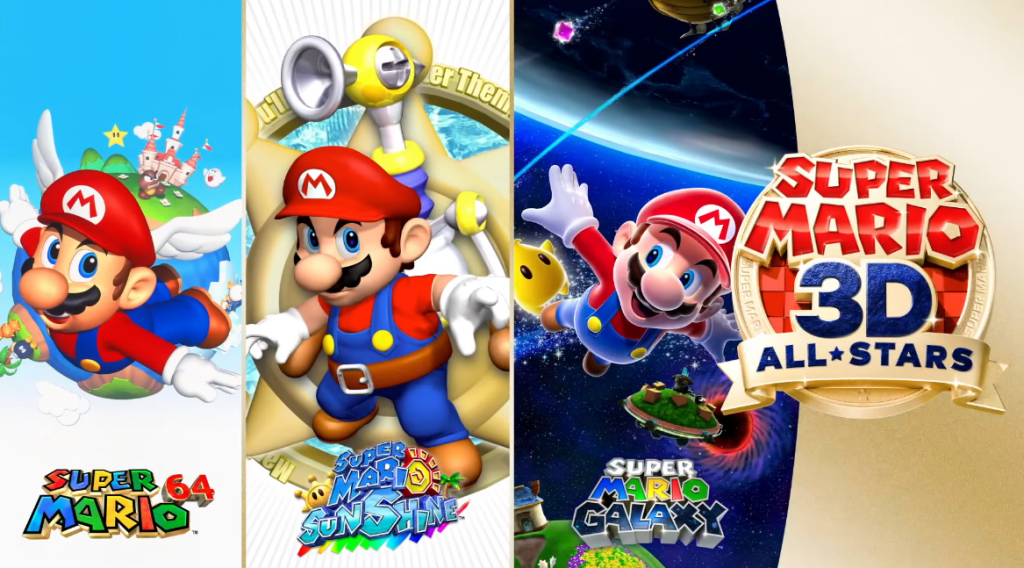 Anúncio do Super Mario 3D All Stars