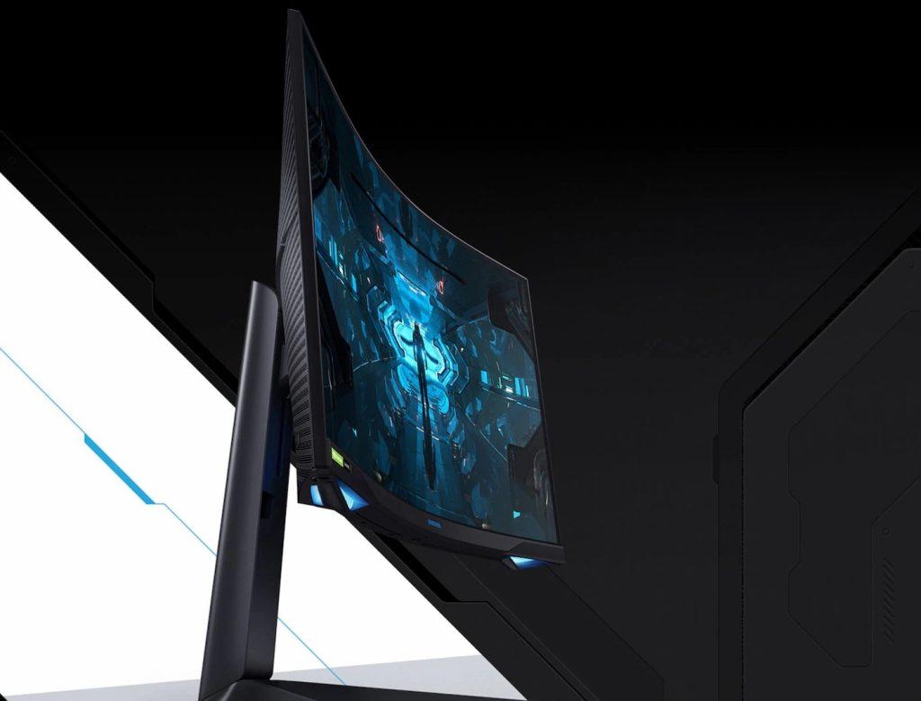 Imagem do odyssey g7, um dos novos monitores gamers da samsung