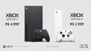 Preço do Xbox Series S e Series X