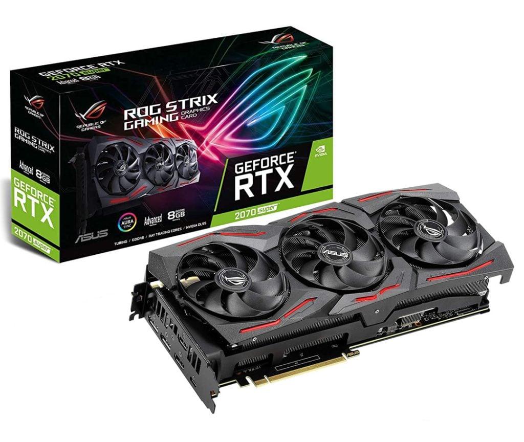 A RTX 2070 Super ASUS STRIX é a placa gráfica do nosso PC.