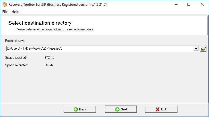 Depois de se registrar na plataforma e receber a chave de acesso, basta voltar ao programa para recuperar o arquivo ZIP corrompido