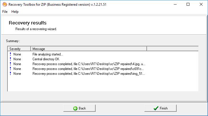 O processo de recuperação de um arquivo ZIP corrompido é bem rápido e fácil
