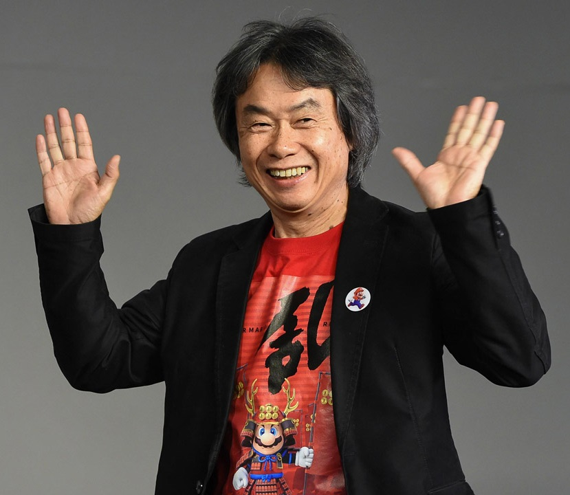Shigeru miyamoto, criador do personagem mario e do game super mario bros.