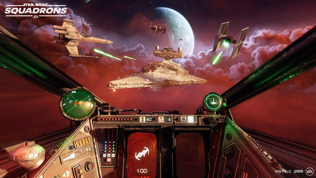 Scene from Star Wars: Squadrons, which is among the games releases of the week