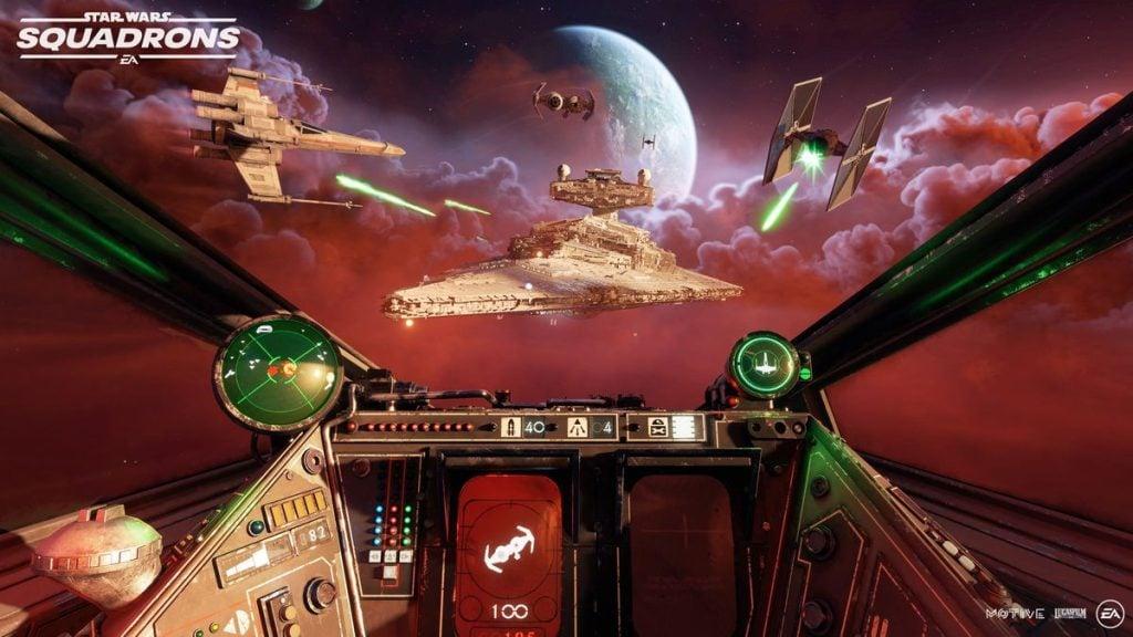 Cena de star wars: squadrons, que está entre os games lançamentos da semana