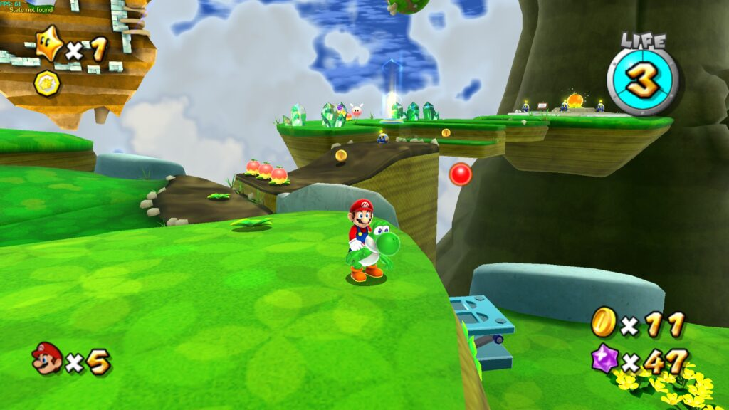 Captura de tela em super mario galaxy (2007)