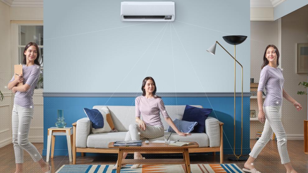 Nova linha de ar condicionado samsung wind free