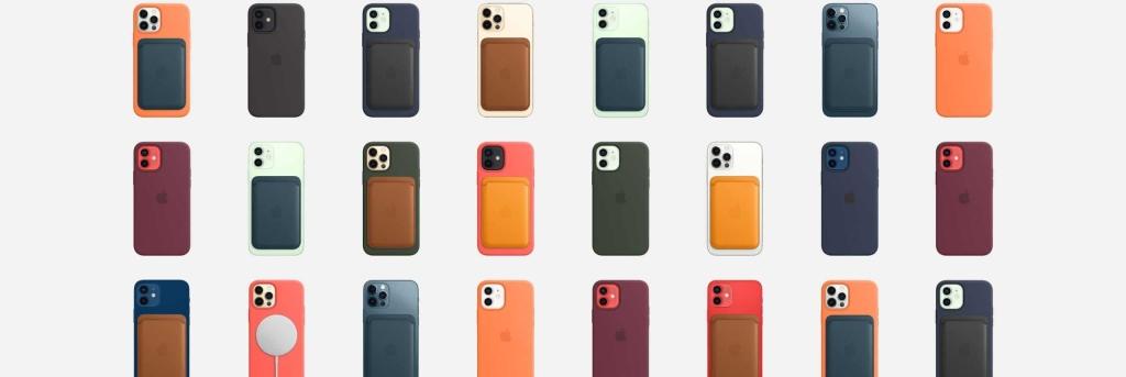 Acessórios possíveis com o MagSafe, conjunto de imãs para o iPhone 12