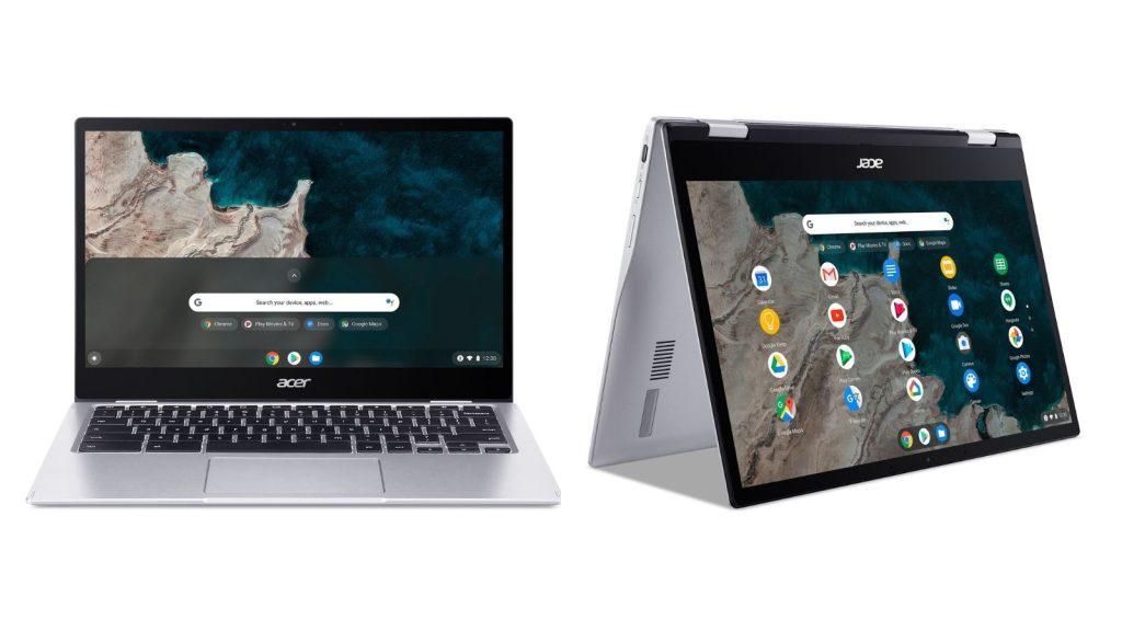 Imagens do Chromebook Spin 513, um dos novos notebooks Acer