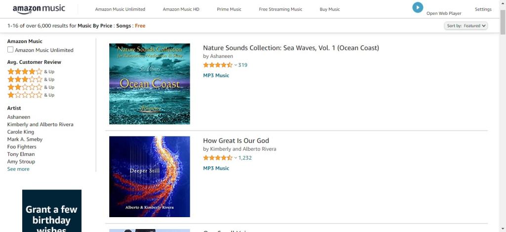 Como baixar músicas de graça pelo site da Amazon