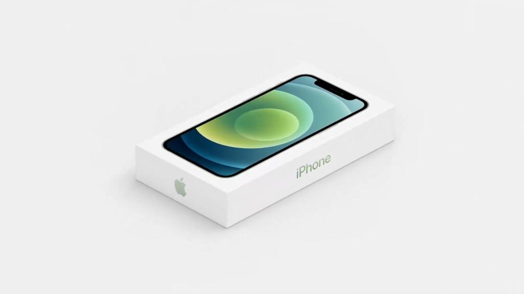 Imagem da caixa do novo iphone 12