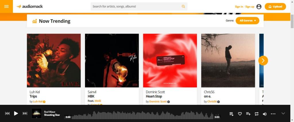 Baixar músicas de graça pelo Audiomack