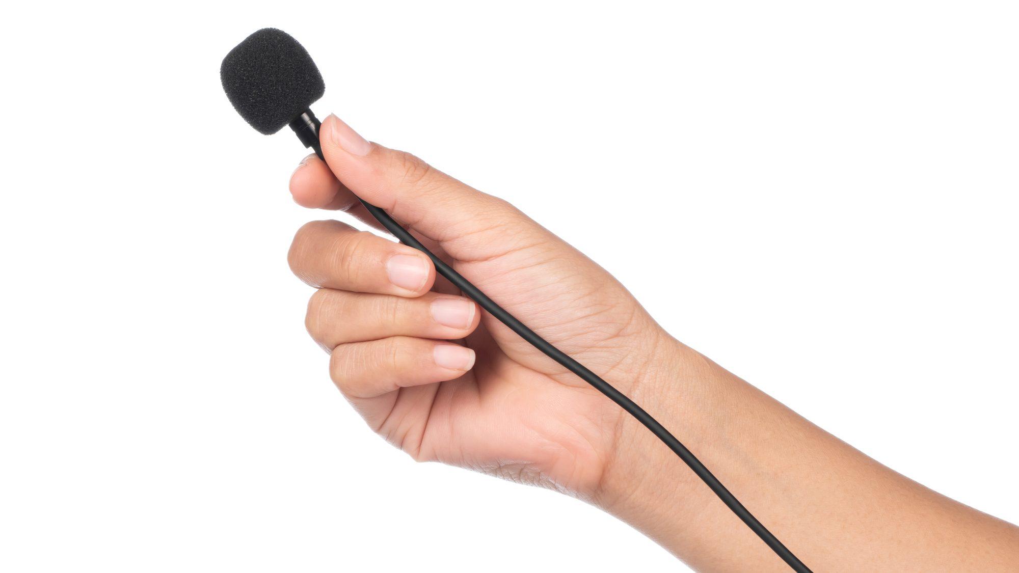 Microfone de lapela destaque