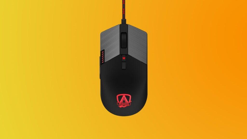Parte de cima do mouse agm700 da linha gamer da aoc