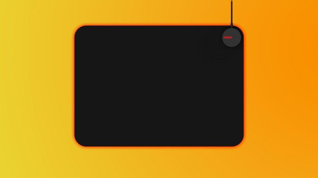 Visão de cima do mousepad agmm700 da nova linha gamer da aoc