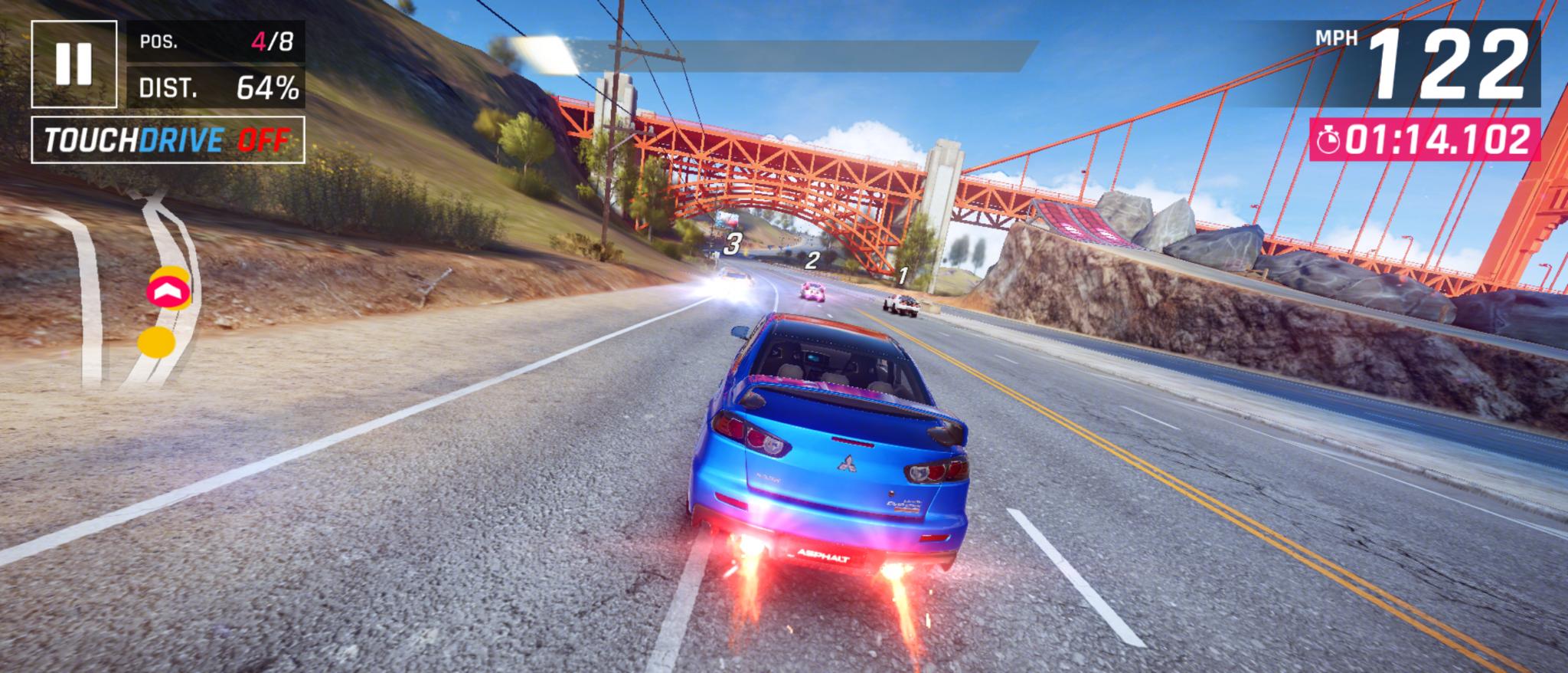 Captura de tela asphalt 9 no moto g 5g plus