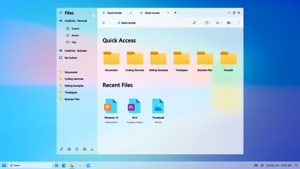 Imagem do Explorador de Arquivos do Windows 10 2021
