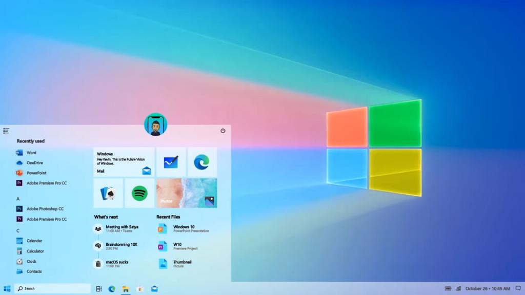 Imagem do Menu Iniciar no Windows 10 2021