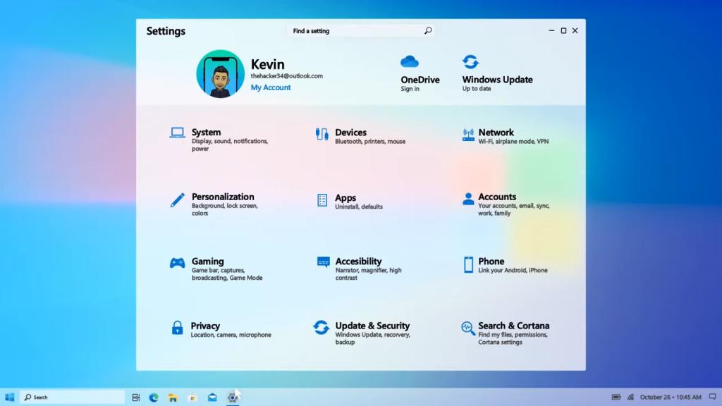 Imagem do Painel de Controle no novo Windows 10 2021
