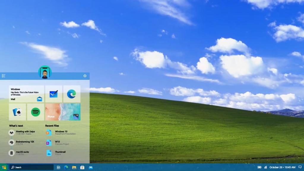 Imagem de um tema do Windows 10 2021